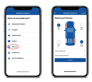 Get faster Roadside Assistance by placing your request using the app.