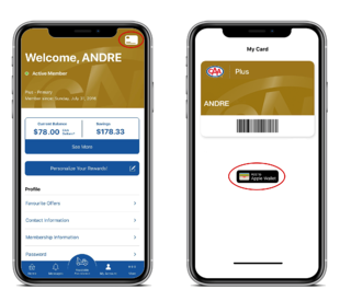 Add your CAA Card to your mobile wallet