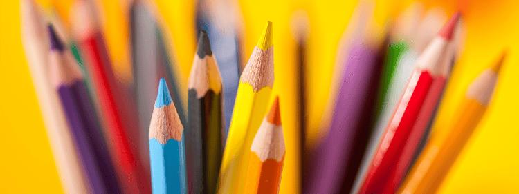 pencil crayons.