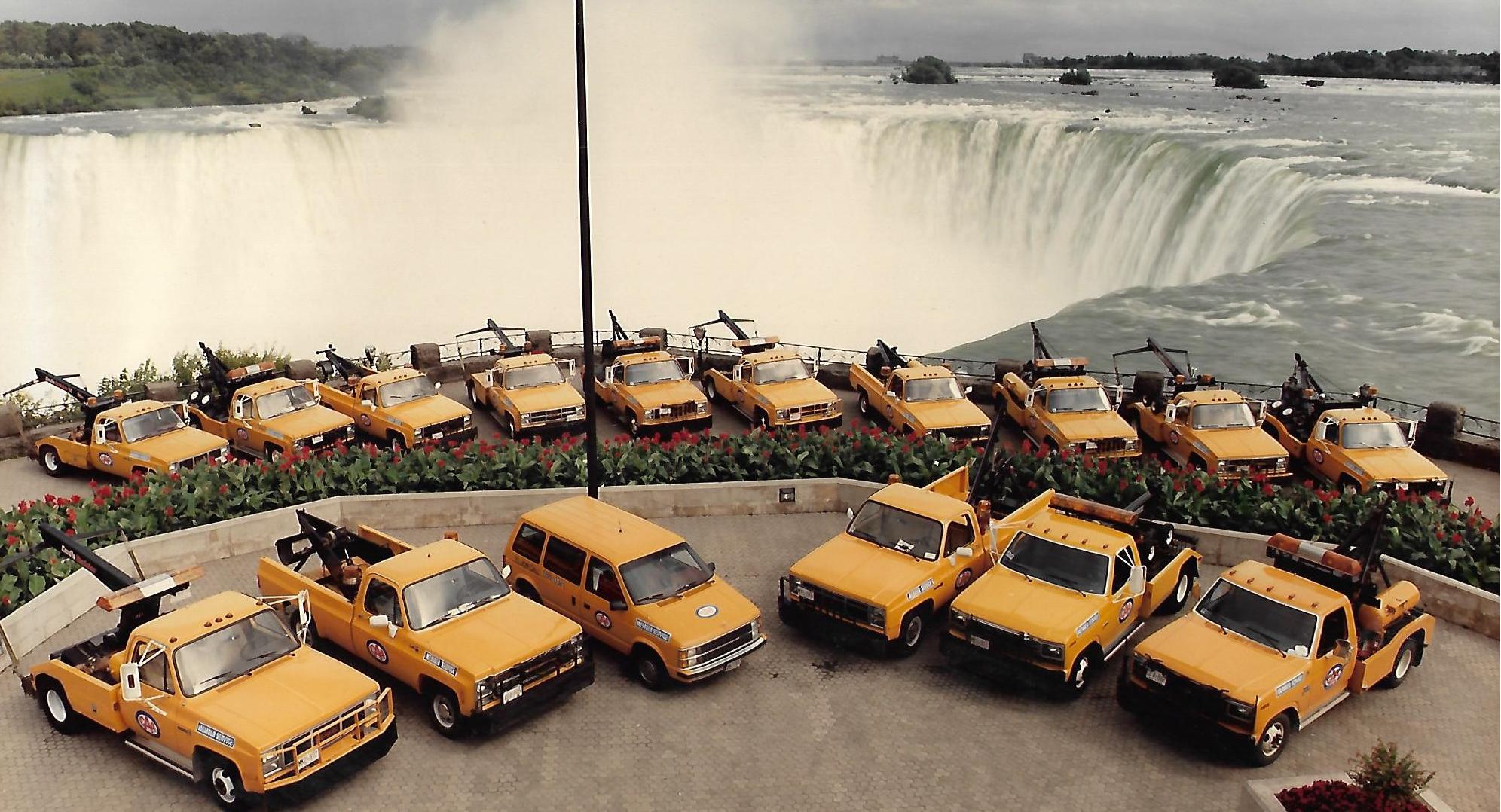 Yellow CAA Niagara Trucks-1