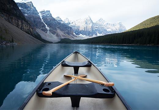 Canoe on Moraine Lake Banff National Park